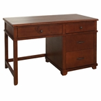 Woodridge Large Pedestal Desk in Chestnut