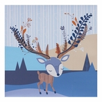 Woods Deer Canvas Reproduction