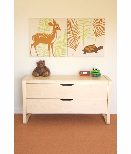 Woods Deer Organic Cotton Wall Print