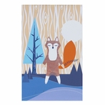Woods Fox Canvas Reproduction