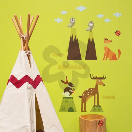 Woodsy Critters Peel & Place Wall Stickers