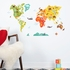 World Map Fabric Wall Decal