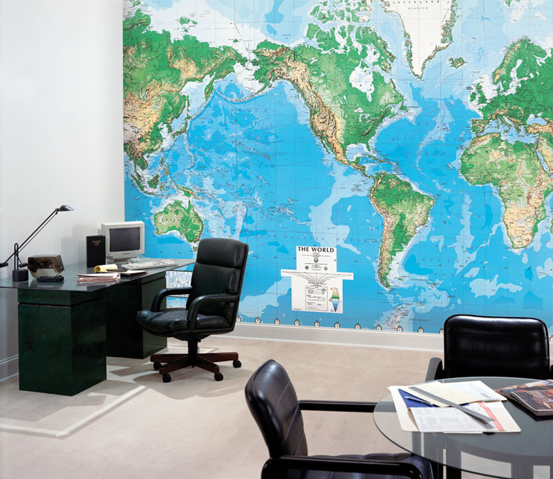 world map wall mural rosenberryrooms com giant classic world map mural by maps international