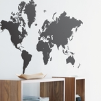 World Map Wall Stickers - Black