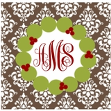 Wreath (monogram only)