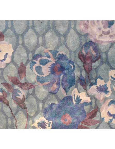 Xanthe Floral Rug in Gray Blue