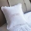 XOXO Natural Embroidered Toss Pillow