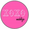 XOXO Pink Personalized Melamine Plate
