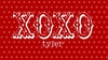 XOXO Red Personalized Placemat