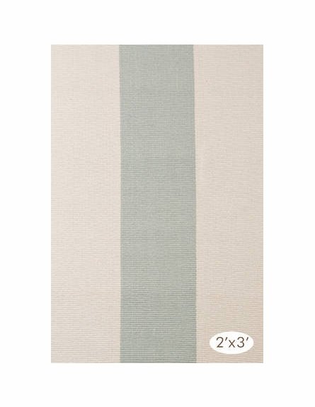Yacht Stripe Woven Cotton Rug in Ocean