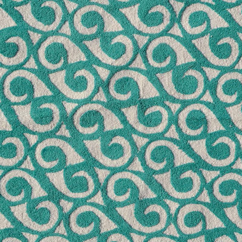 Yang Teal Rug By POP Accents