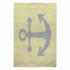 Yellow Anchor Flat Weave Rug