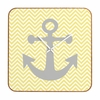 Yellow Anchor Square Wall Clock