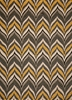 Yellow and Gray Geo Zig Zag Rug