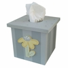 Yellow and Grey Flower Tissue Box Cover