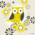 Yellow and Grey Owl Canvas Wall Art