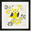 Yellow and Grey Owl Framed Art Print