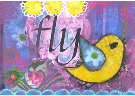 Yellow Birdie Canvas Wall Art