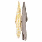 Yellow Burst Bamboo Muslin Swaddle Blanket - Set of 2