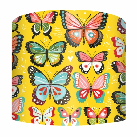 Yellow Butterflies Lamp