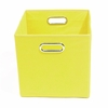 Yellow Canvas Storage Bin