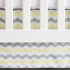 Yellow Chevron Flat Panel Crib Skirt