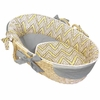 Yellow Chevron Moses Basket