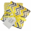Yellow Chevron Satin Burp Cloth