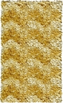Yellow Chevron Shaggy Raggy Rug