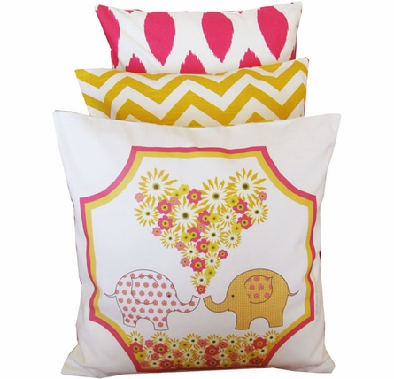 Yellow Chevron Throw Pillow
