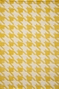 Yellow Delhi Houndstooth Rug