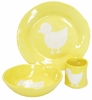 Yellow Duck Silhouette Personalized Ceramic Dish Collection