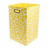 Yellow Giraffe Canvas Laundry Bin