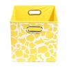 Yellow Giraffe Canvas Storage Bin