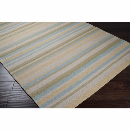 Yellow & Green II Rain Striped Rug