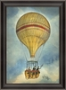 Yellow Hot Air Balloon Framed Wall Art