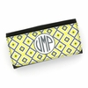 Yellow Ikat Diamond Monogram Wallet