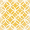 Yellow Modern Symmetry Canvas Reproduction