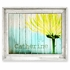 Yellow Mum & Fence Personalized Framed Canvas Wall Art