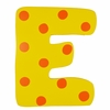 Yellow & Orange Polka Dot Wall Letter - E