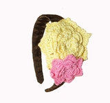 Yellow & Pink/Brown Headband