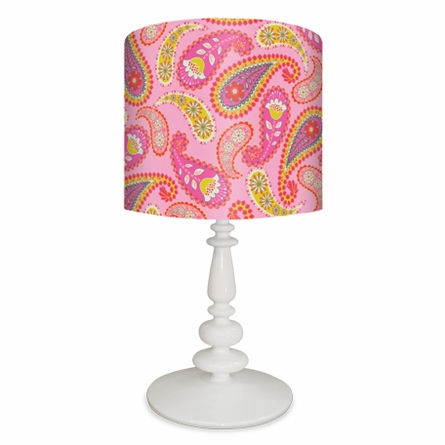 Yellow Pink & Red Paisley Lamp
