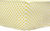 On Sale Yellow Polka Dot Crib Sheet