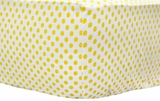 Yellow Polka Dot Crib Sheet $(+60.00)