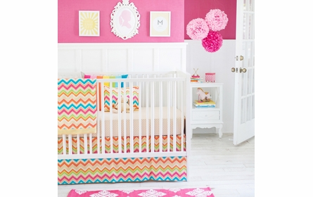 Yellow Polka Dot Crib Sheet