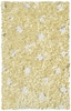 Yellow Shaggy Raggy Rose Rug