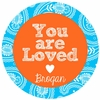 You Are Loved Personalized Melamine Plate