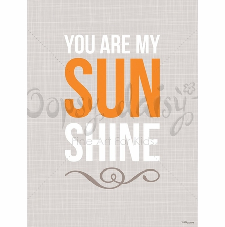 You Are My Sunshine in Tan Canvas Wall Art