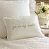 You Are My Sunshine Natural Embroidered Boudoir Pillow