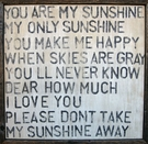 You Are My Sunshine Vintage Framed Art Print